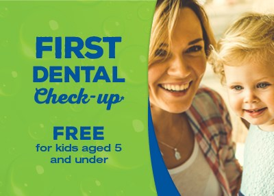 Complimentary Kids first check-up Special Offer IMAGE