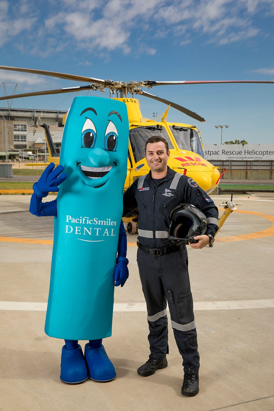 Mr Toothy and the Westpac Rescue Helicopter Superheroes! Image