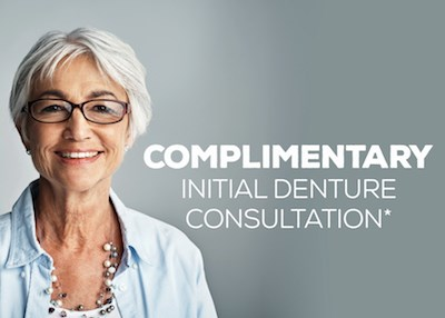 Complimentary initial Denture Consultation Special Offer IMAGE