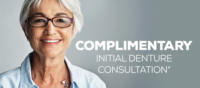 Complimentary initial Denture Consultation IMAGE