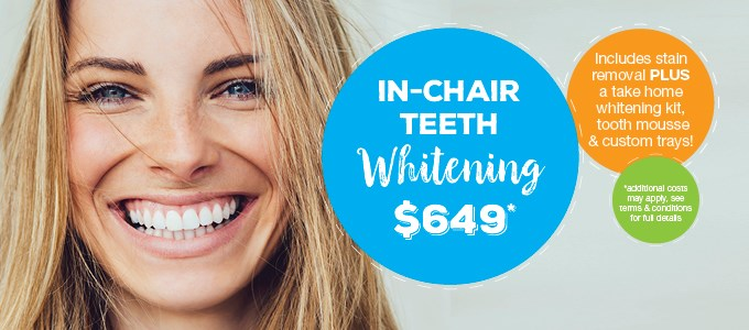 In-Chair Teeth Whitening $649 IMAGE